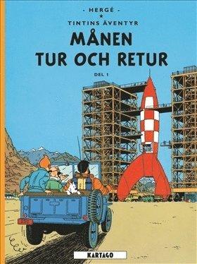 bokomslag Tintins äventyr, Månen tur och retur del 1