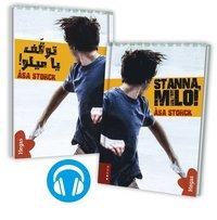 bokomslag Stanna Milo (Tvillingpaket svenska+arabiska) (Bok+CD)