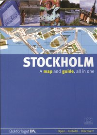 Stockholm (engelsk) - A map and a guide, all in one