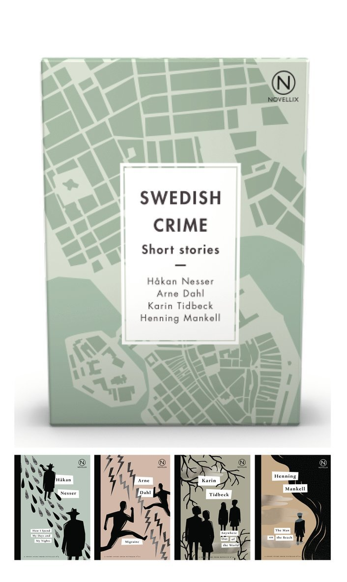 Box with four Swedish Crime Stories 1
