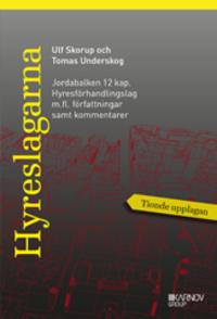 bokomslag Hyreslagarna 2016. Jordabalken 12 kap.