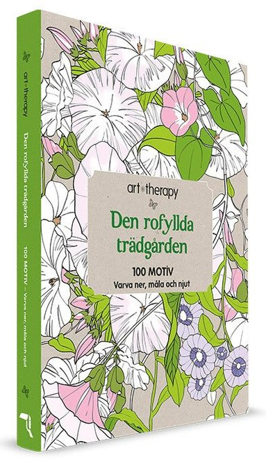 bokomslag Den rofyllda trädgården : 100 motiv- varva ner, måla och njut