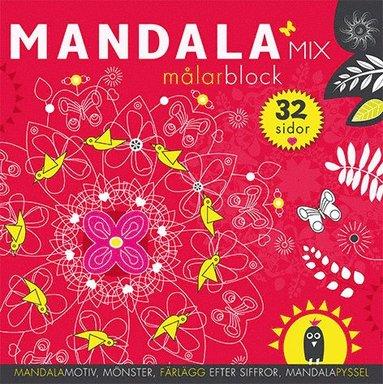 bokomslag Mandalamix : målarblock (röd)