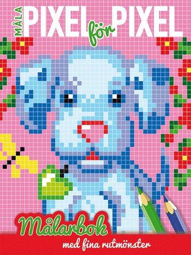 bokomslag Måla pixel för pixel : målarbok med fina rutmönster (hund)