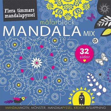 bokomslag Mandalamix : målarblock (blå)