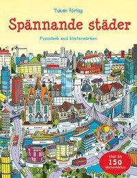 bokomslag Spännande städer : pysselbok med klistermärken