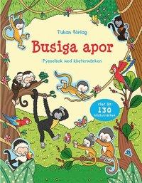 bokomslag Busiga apor : pysselbok med klistermärken