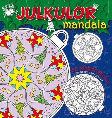 bokomslag Julkulor - mandala (blå)
