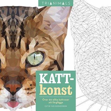 bokomslag Kattkonst : över 60 olika kattraser att färglägga