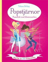 bokomslag Popstjärnor : pysselbok med klistermärken