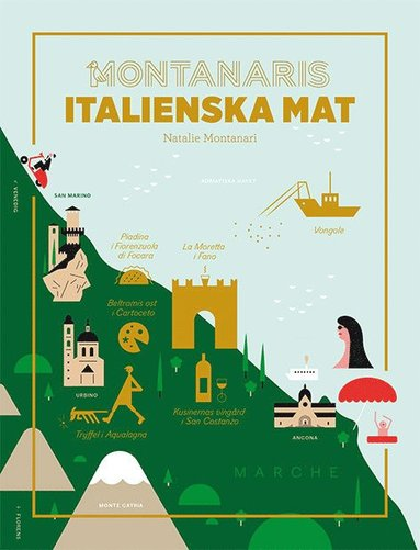 bokomslag Montanaris italienska mat
