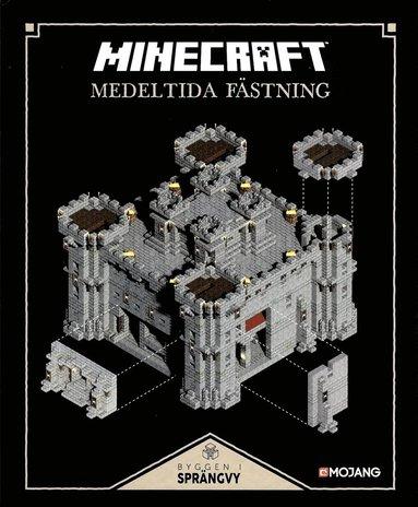 bokomslag Minecraft - Byggen i sprängvy : Medeltidas fästning