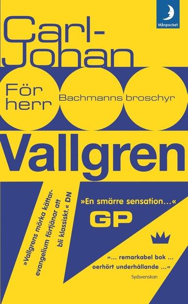 bokomslag För herr Bachmanns broschyr