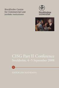 bokomslag CISG Part II Conference, Stockholm, 4-5 September 2008