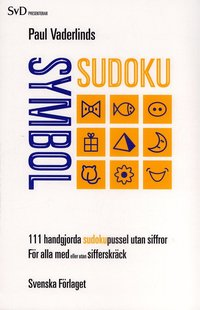 bokomslag Paul Vaderlinds symbol sudoku : 111 handgjorda sudokupussel utan siffror för alla med eller utan sifferskräck