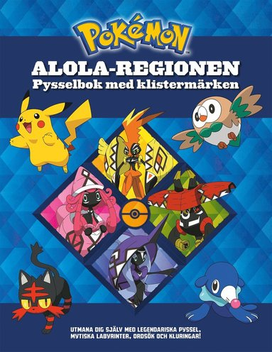 bokomslag Pokémon -  Alola-regionen - Pysselbok med klistermärken
