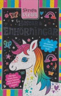 bokomslag Skrapa och skapa : hästar och enhörningar en skapande aktivitetsbok