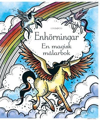 bokomslag Enhörningar : en magisk målarbok