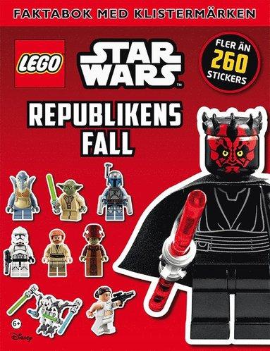 bokomslag LEGO Star Wars. Republikens fall, faktabok med klistermärken