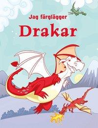 bokomslag Jag färglägger : drakar