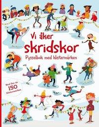 bokomslag Vi åker skridskor: pysselbok med klistermärken