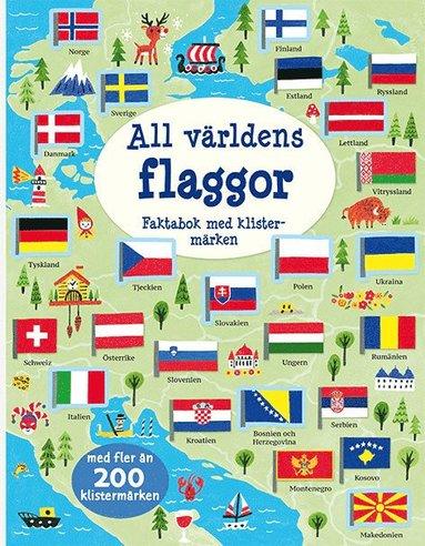 bokomslag All världens flaggor: pysselbok med klistermärken