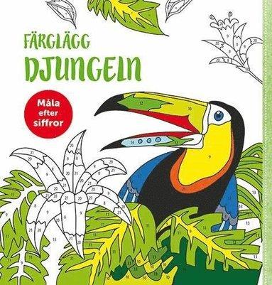 bokomslag Färglägg djungeln