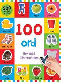 bokomslag 100 ord : bok med klistermärken