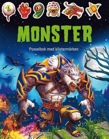bokomslag Monster : pysselbok med klistermärken