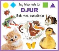 bokomslag Jag leker och lär: djur, bok med pusselbitar