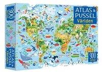 Pussel 300 bitar med atlas - Världen