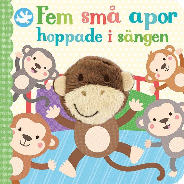 Fem små apor hoppade i sängen 1