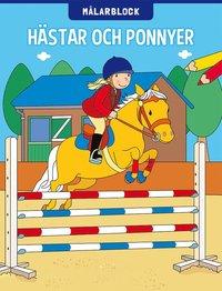 bokomslag Målarblock. Hästar och ponnyer