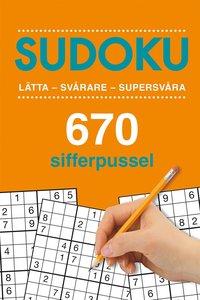 bokomslag Sudoku: 670 sifferpussel