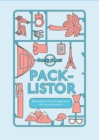 bokomslag Packlistor: 88 listor för alla slags resor. Riv ut och bocka av!