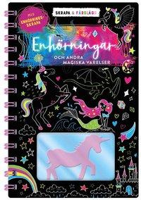 bokomslag Skrapa & färglägg: Enhörningar och andra magiska djur