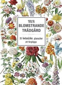 bokomslag Min blomstrande trädgård : 35 botaniska planscher att färglägga