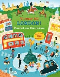 bokomslag Vi reser till London! Pysselbok med klistermärken
