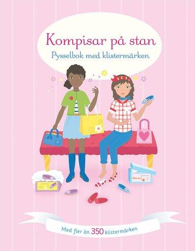 bokomslag Kompisar på stan: pysselbok med klistermärken