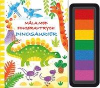 bokomslag Måla med fingeravtryck. Dinosaurier