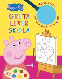 bokomslag Greta leker skola : hitta svaren med det magiska förstoringsglaset!