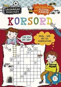 bokomslag LasseMajas Detektivbyrå - Korsord : aktivitetsbok med klistermärken