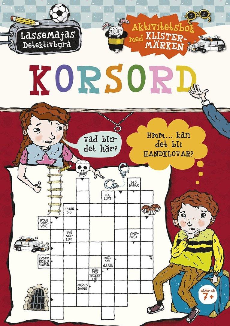 LasseMajas Detektivbyrå - Korsord : aktivitetsbok med klistermärken 1