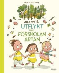 bokomslag Alla tre på utflykt med förskolan Ärtan