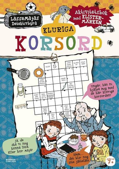 bokomslag Kluriga korsord : aktivitetsbok med klistermärken