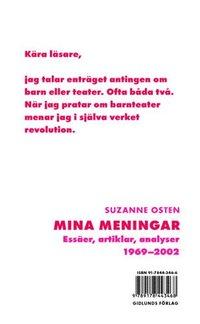 bokomslag Mina meningar : essäer, artiklar, analyser 1969-2002