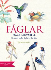 bokomslag Fåglar : måla i akvarell