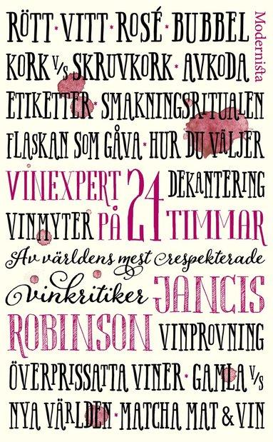 bokomslag Vinexpert på 24 timmar