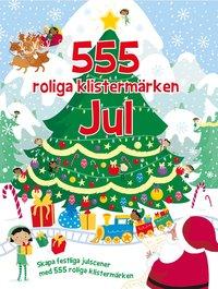 bokomslag 555 roliga klistermärken : jul