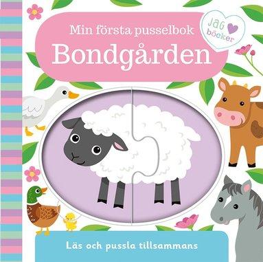 bokomslag Min första pusselbok - bondgården